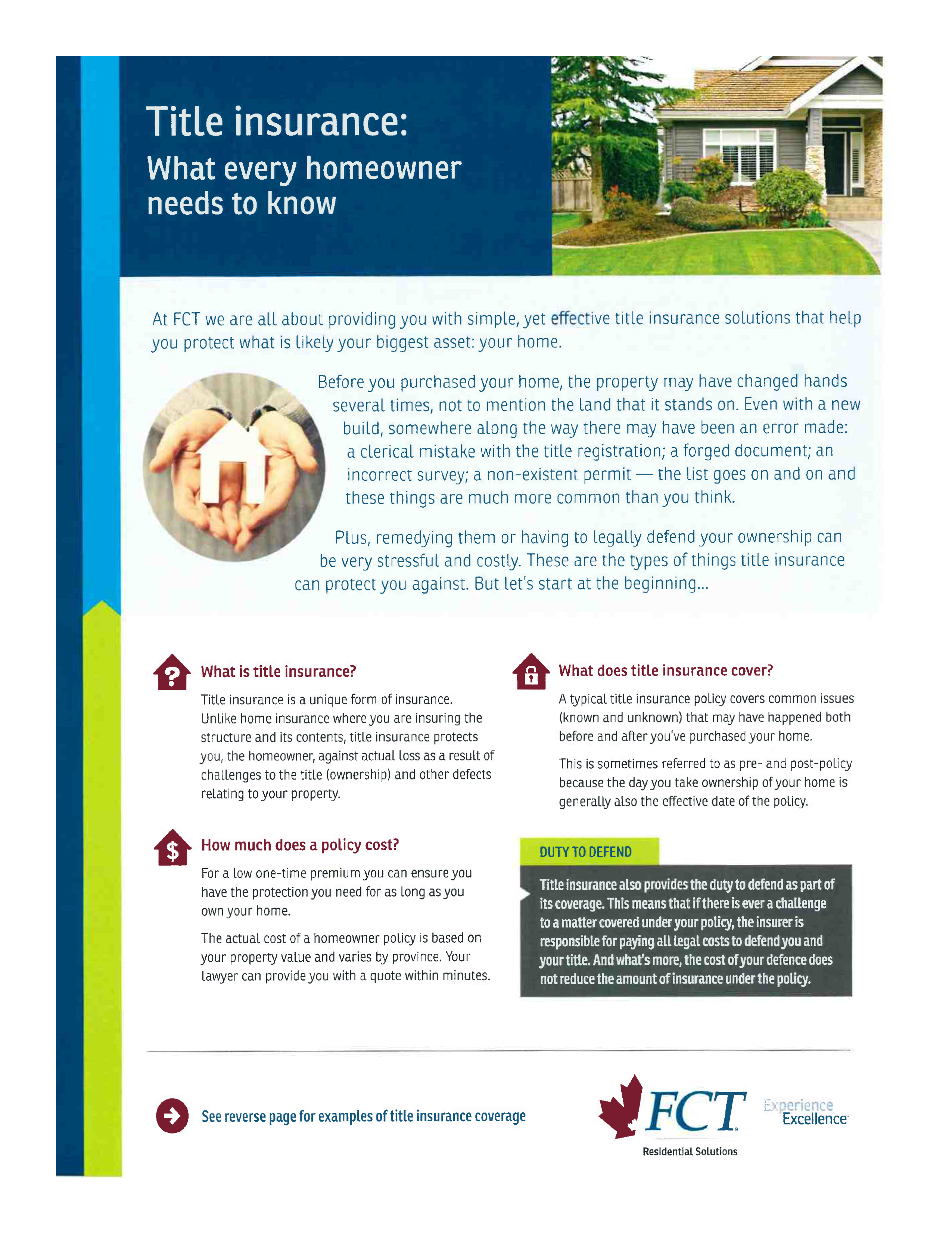 Title Insurance  What every homeowner needs to know